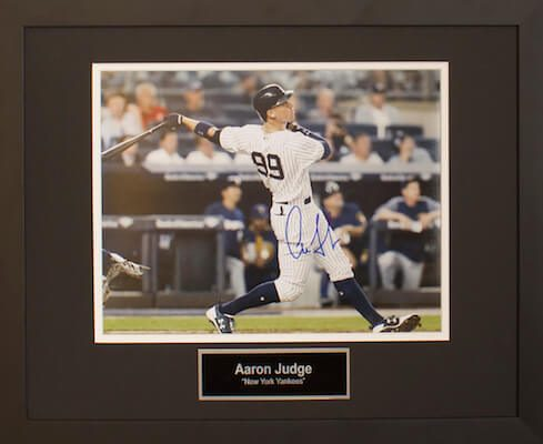 Charity Auction Items -Autographed Sports Memorabilia - AARON JUDGE