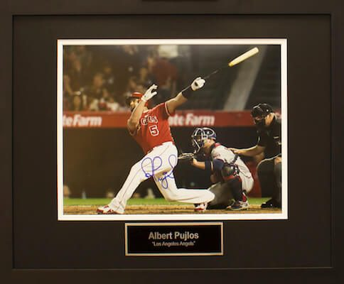 Charity Auction Items -Autographed Sports Memorabilia - ALBERT PUJLOS