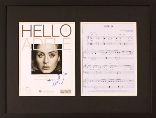 Charity Auction Items - Autographed Sheet Music - Adele