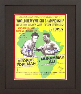 Charity Auction Items - Autographed Championship Boxing Posters - Ali Foreman