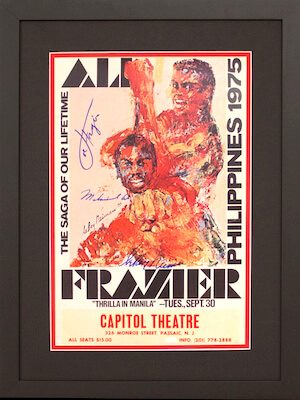 Charity Auction Items - Autographed Championship Boxing Posters - Ali Frazier