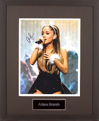 Charity Auction Items - Autographed Musician Photos - Ariana Grande