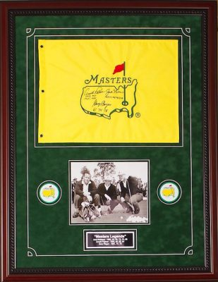 Arnold Palmer-Jack Nicklaus-Gary Player Masters Flag