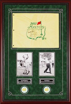 Charity Auction Items - Autographed Sports Memorabilia - Arnold Palmer and Jack Nicklaus Masters Flag