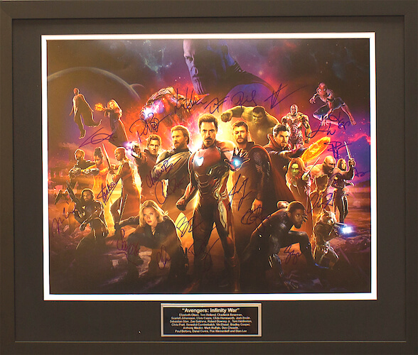 Charity Auction Items - Avengers Infinity War Version B | Autographed 16×20 Movie Posters