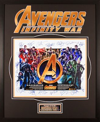 Charity Auction Items - Autographed 16×20 Movie Posters - Avengers Infivity War - Version A