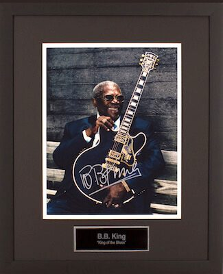 Charity Auction Items - Autographed Musician Photos - BB King