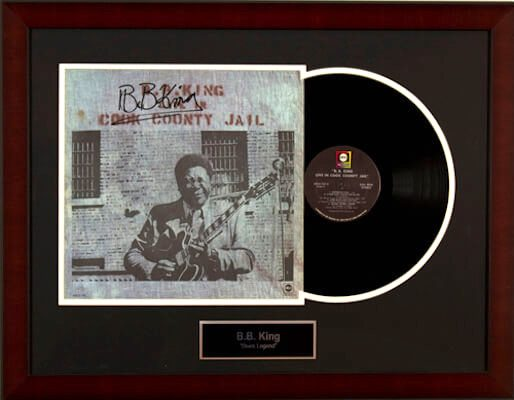 Charity Auction Items - Autographed Record Albums - BB King