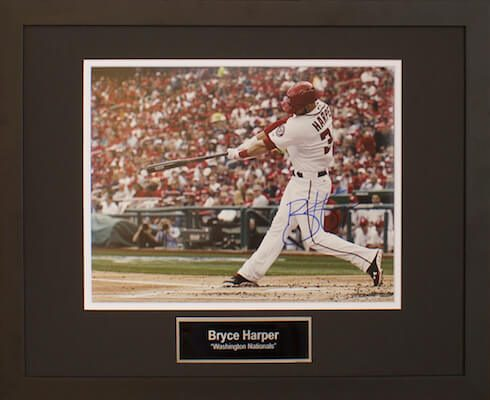 Charity Auction Items -Autographed Sports Memorabilia - BRYCE HARPER