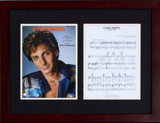 Charity Auction Items - Autographed Sheet Music - Barry Manilow