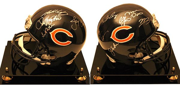 Charity Auction Items - Autographed NFL Team Legends Helmets - Bears Legends