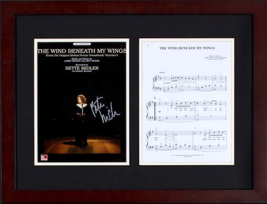 Charity Auction Items - Autographed Sheet Music - Bette Midler