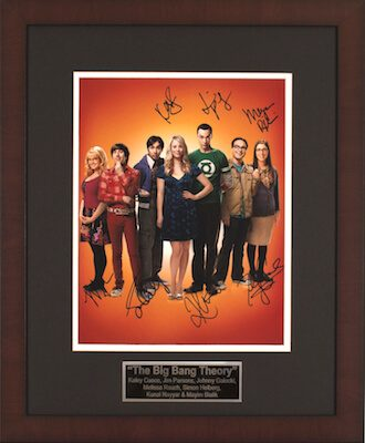 Charity Auction Items - Autographed Celebrity Photos - Big Bang Theory