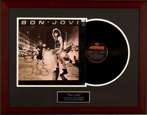 Charity Auction Items - Autographed Record Albums - Bon Jovi