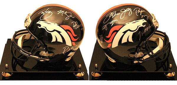 Charity Auction Items - Autographed NFL Team Legends Helmets - Broncos Legends