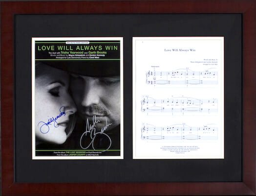 Charity Auction Items - Autographed Sheet Music - Brooks Yearwood Sheet Music