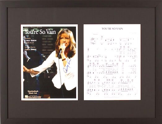 Charity Auction Items - Autographed Sheet Music - Carly Simon