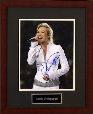 Charity Auction Items - Autographed Musician Photos - Carrie Underwood