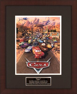 Charity Auction Items - Autographed Animation Art - Cars