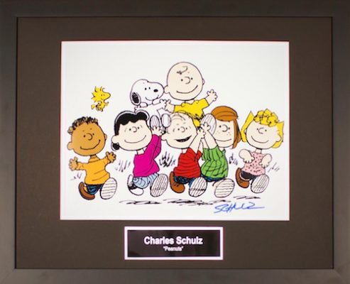 Charity Auction Items - Autographed Animation Art- Charles Schulz Peanuts