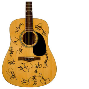 Charity Auction Items - Autographed Guitars -Country Music Superstars