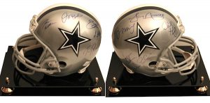 Charity Auction Items - Autographed NFL Team Legends Helmets - Cowboys Legends