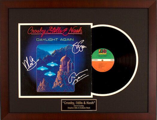 Charity Auction Items - Autographed Record Albums - Crosby Stills