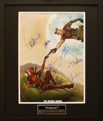 Charity Auction Items - Autographed 16×20 Movie Posters - DEADPOOL2