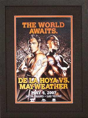 Charity Auction Items - Autographed Championship Boxing Posters - DeLaHoya Mayweather