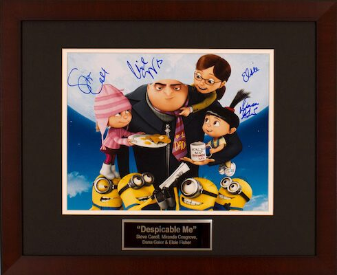 Charity Auction Items - Autographed Animation Art - Despicable Me