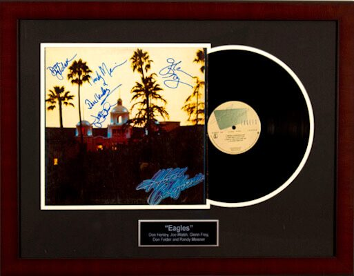 Charity Auction Items - Autographed Record Albums - Eagles