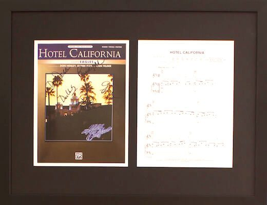 Charity Auction Items - Autographed Sheet Music - Eagles