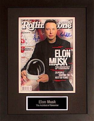 Charity Auction Items - Autographed 11×14 Celebrity Photos - Elon Musk
