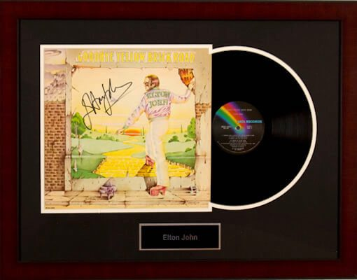 Charity Auction Items - Autographed Record Albums - Elton John