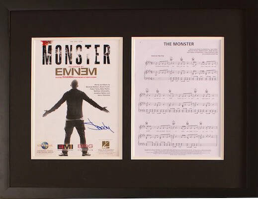 Charity Auction Items - Autographed Sheet Music - Eminem