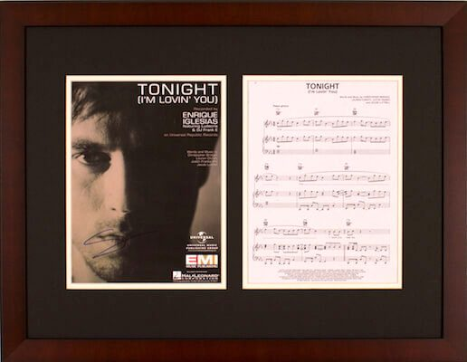 Charity Auction Items - Autographed Sheet Music - Enrique Iglesias
