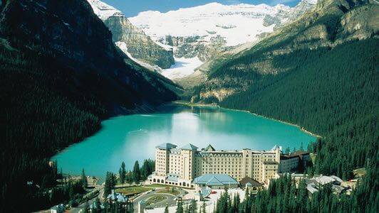 Charity Auction Items - VIP Experiences & Vacation Packages -Fairmont Lake Louise Mountain