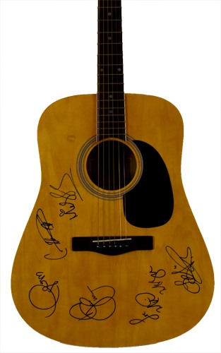 Silent Auction Idea Female Superstars Autographed Guitar