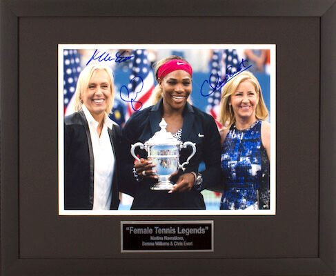 Charity Auction Items - Autographed Sports Memorabilia - Female Tennis Legends 11x14 Photo