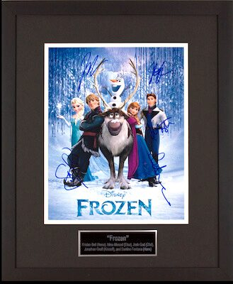 Charity Auction Items - Autographed Animation Art - Frozen