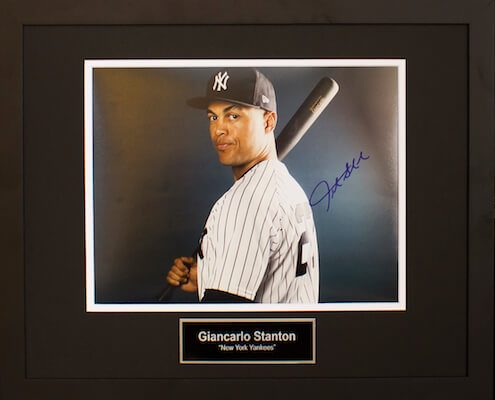 Charity Auction Items -Autographed Sports Memorabilia - GIANCARLO STANTON