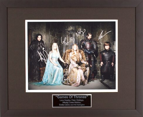 Charity Auction Items - Autographed Celebrity Photos - Game of Thrones