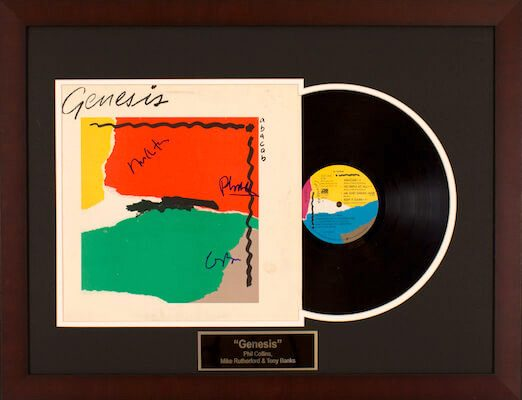 Charity Auction Items - Autographed Record Albums - Genesis