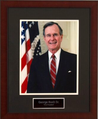 Charity Auction Items - Autographed Presidential Photos - George Bush Sr
