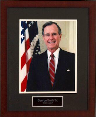 Charity Auction Items - Autographed Presidential Photos - George Bush Sr