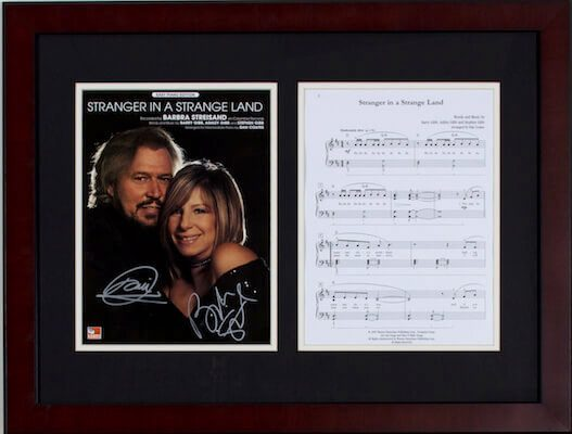 Charity Auction Items - Autographed Sheet Music - Gibb Streisand