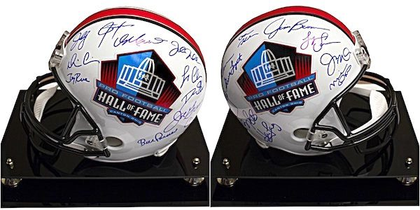 Charity Auction Items - Autographed NFL Team Legends Helmets - HOF Helmet