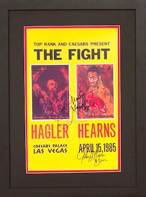 Charity Auction Items - Autographed Championship Boxing Posters - Hagler Hearns