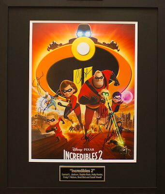 Charity Auction Items - Autographed 16×20 Movie Posters - INCREDIBLES 2