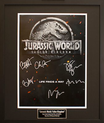 Charity Auction Items - Autographed 16×20 Movie Posters - JURASSIC WORLD FALLEN KINGDOM
